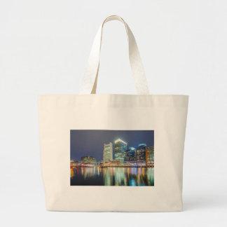 Boston harbor massachusetts large tote bag