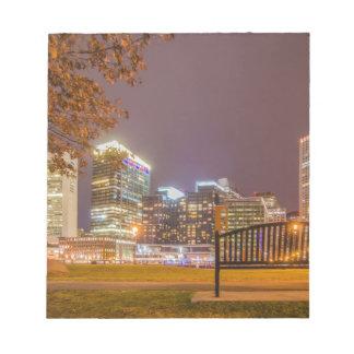 Boston harbor massachusetts note pad