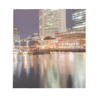 Boston harbor massachusetts notepad