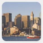 Boston Harbor, Massachusetts Square Stickers