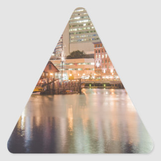 Boston harbor massachusetts triangle sticker