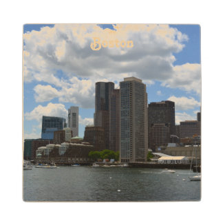 Boston Harbor Maple Wood Coaster