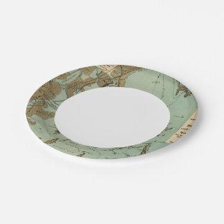Boston Harbor Paper Plate