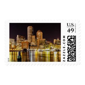 Boston Harbor Postage Stamp