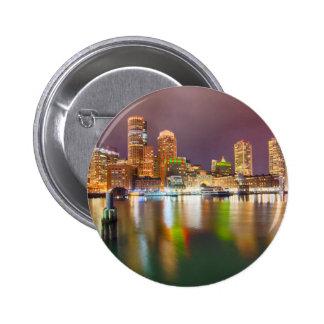Boston Harbor skyline 2 Inch Round Button