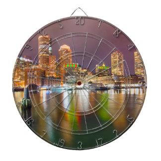 Boston Harbor skyline Dartboard