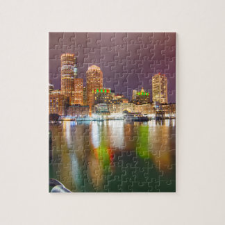 Boston Harbor skyline Jigsaw Puzzle