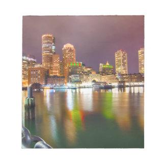 Boston Harbor skyline Note Pad