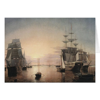 Boston Harbor Sunset card