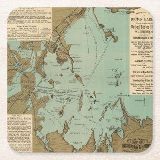 Boston Harbor Square Paper Coaster