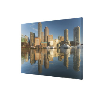 Boston Harbor viewed from Ft Poi Stretched Canvas Print