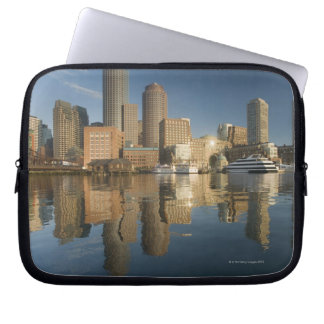 Boston Harbor viewed from Ft Poi Computer Sleeve
