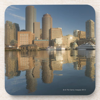 Boston Harbor viewed from Ft Poi Drink Coaster