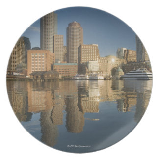 Boston Harbor viewed from Ft Poi Dinner Plate
