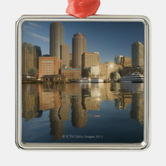 Boston Harbor viewed from Ft Poi Metal Ornament