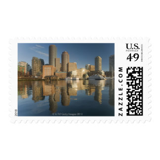 Boston Harbor viewed from Ft Poi Postage Stamp