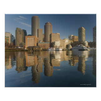 Boston Harbor viewed from Ft Poi Poster