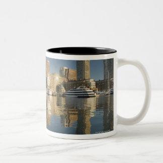Boston Harbor viewed from Ft Poi Two-Tone Coffee Mug