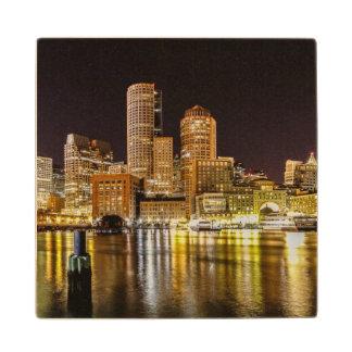 Boston Harbor Wood Coaster