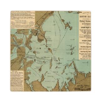 Boston Harbor Wooden Coaster