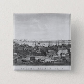 Boston Harbour, 1854 Pinback Button