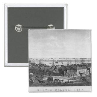 Boston Harbour, 1854 Pinback Button