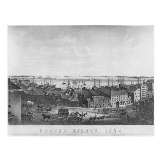 Boston Harbour, 1854 Postcard