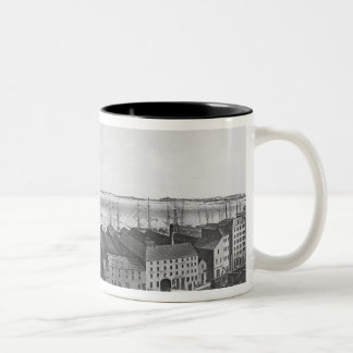 Boston Harbour, 1854 Two-Tone Coffee Mug