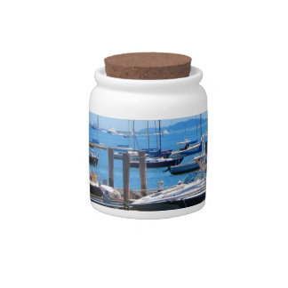 Boston Harbour Boats Sail SailBoats Lake views Candy Jars