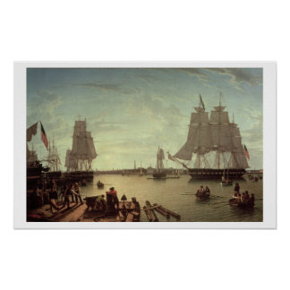 Boston Harbour from Constitution Wharf Print
