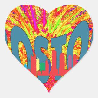 Boston Heart Sticker