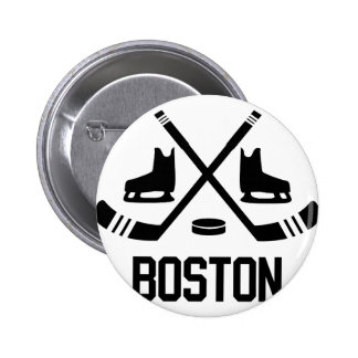 Boston Hockey Pinback Buttons