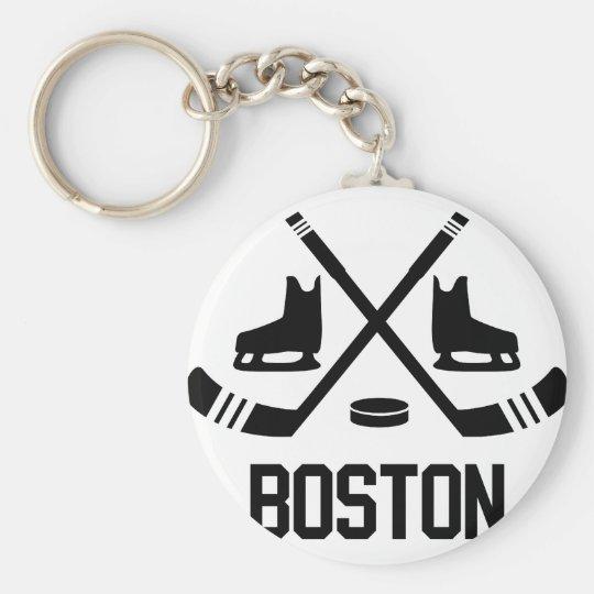 Boston Hockey Keychain