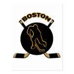 BOSTON HOCKEY POSTCARD