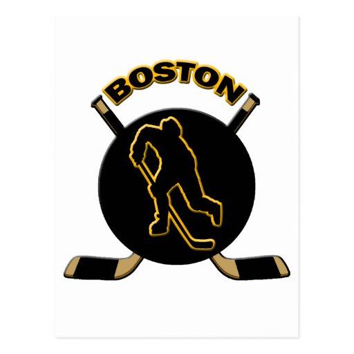 BOSTON HOCKEY POSTCARDS