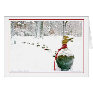Boston-Holiday: Make Room for Ducklings Card