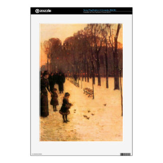 Boston in everyday twilight by Childe Hassam PS3 Console Skins