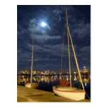 Boston in the Full Moon Postcard