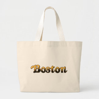 Boston in yellow and black stripes bag