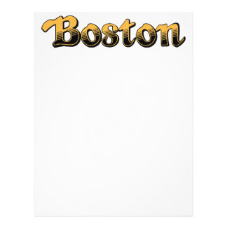 Boston in yellow and black stripes personalized letterhead