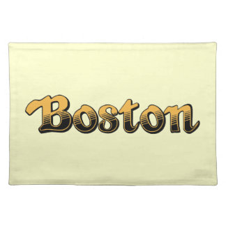 Boston in yellow and black stripes placemat