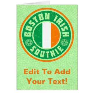 Boston Irish American Southie Card