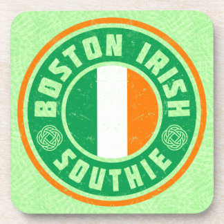 Boston Irish American Southie Coaster Set