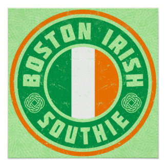 Boston Irish American Southie Print