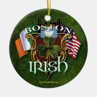Boston Irish Ceramic Ornament