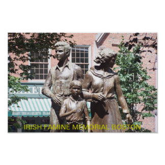 Boston Irish Famine Memorial Poster