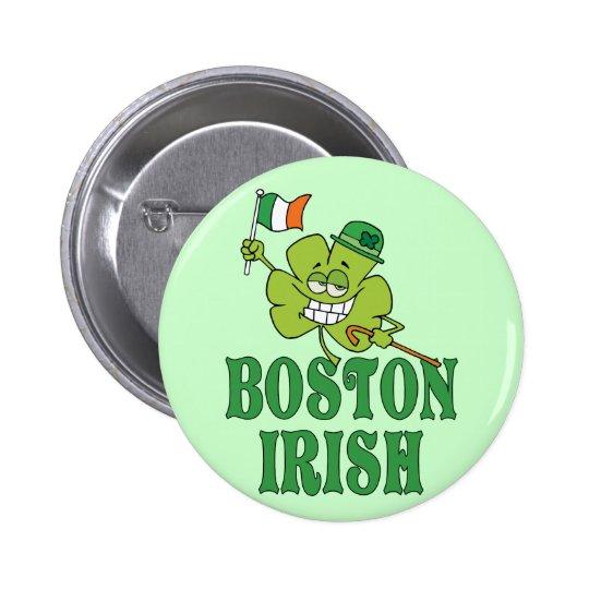 Boston Irish Pinback Button