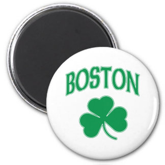 Boston Irish Shamrock 2 Inch Round Magnet
