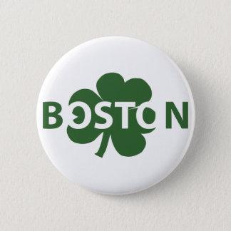 Boston Irish Shamrock Button