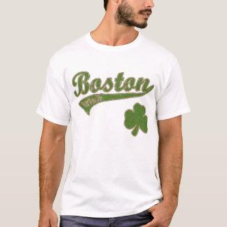 Boston Irish Shamrock t shirt
